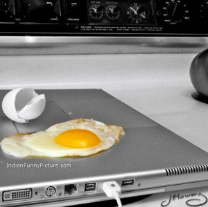 Funny Laptop Overheating | Funny Omelette Picture