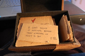 quotes cardboard love waking up next to you love letters