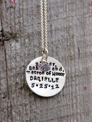 Maid Of Honor Gift, Bridesmaid, SISTER Best Friend Matron Of Honor ...