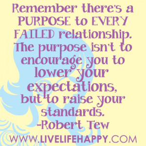 Remember there's a PURPOSE to EVERY FAILED relationship. The purpose ...