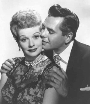 Lucille Ball with husband and I Love Lucy co-star, musician-actor Desi ...