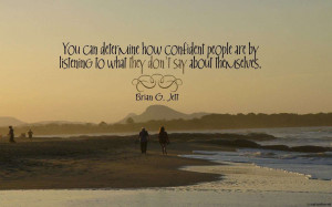 ... Wallpaper on Confidence: Quote on confidence by Brian G. Jett