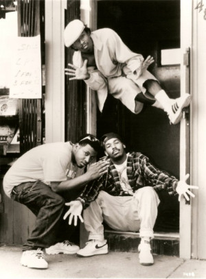 Dru Down (above) and the Luniz (below) in Gary, Indiana on the set of