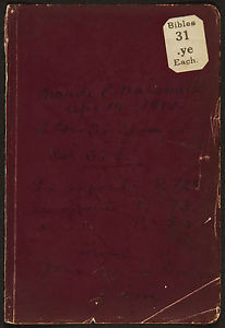... James-Naismith-AUTOGRAPH-Signed-Page-BIBLE-Verses-INVENTOR-BASKETBALL
