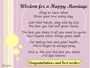 Wisdom For A Happy Marriage. Free Congratulations eCards, Greeting ...