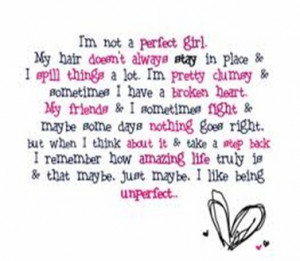perfectly imperfect…