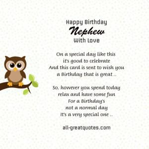 Free Birthday Cards For Nephew – Happy Birthday Nephew With Love