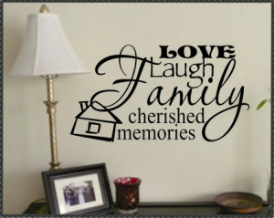 Happy Family Quotes and Sayings Images for Living Room Wall Decals ...