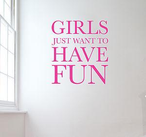 Girl Just Wanna Have Fun