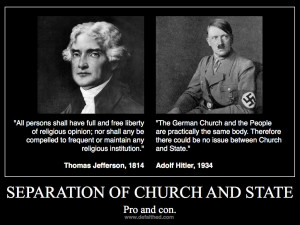 Correcting a Jefferson quote on separation of church and state