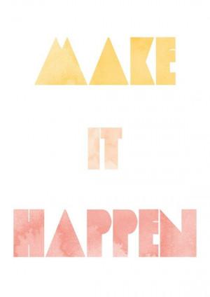 Make it Happen like wonderlove
