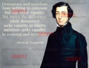 Alexis de Tocqueville Democracy and Socialism Poster