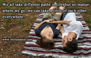 We All Take A Different Paths