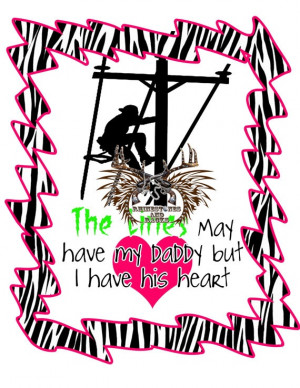 Lineman Daddys Heart Shirt by RhinestonesandRacks on Etsy, $18.00