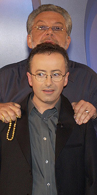 Rene Rivkin and Andrew Denton during Rivkin's appearance on Enough ...
