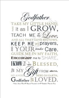 DIGITAL FILE: Godfather Gift Baptism Gift for by SayitinStyleArt