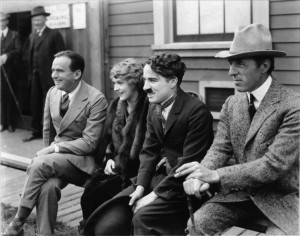 Douglas Fairbanks, Mary Pickford, Charlie Chaplin, and D. W. Griffith ...