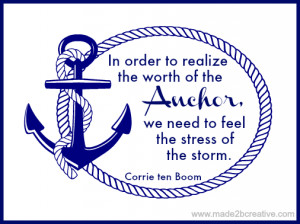 The Worth of the Anchor - Corrie Ten Boom