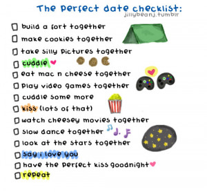 The perfect date checklist