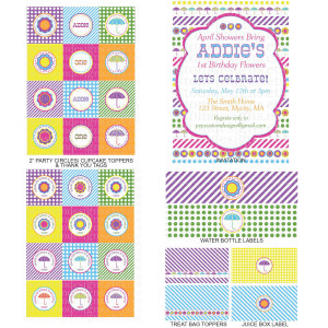 April Showers Bring May Flowers Banners Diy - printable: april showers