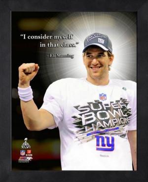 New York Giants Eli Manning Framed Pro Quote