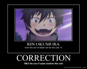 funny blue exorcist posters | deviantART: More Like Rin Motivational ...
