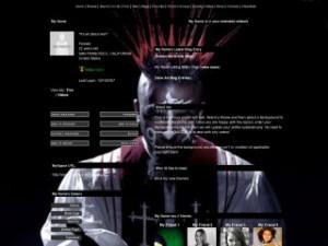 Tech N9ne - Xray White MySpace Layout Preview