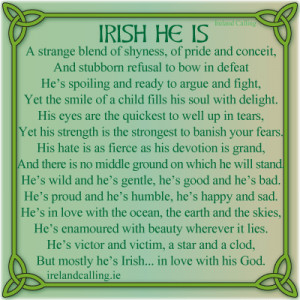Irish poem. Image Copyright - Ireland Calling