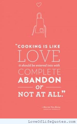 Harriet Van Horne – Cooking is like love