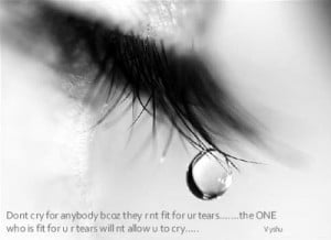 don t cry for anybody bcoz they r nt fit for ur tears the one who is ...