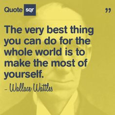 ... of yourself. - Wallace Wattles #quotesqr #quotes #inspirationalquotes