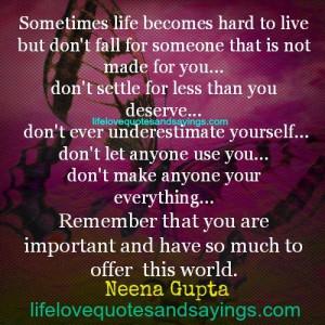 Sometimes Life Becomes Hard..