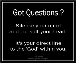 ... Your Direct line to the 'God' within You ~ Inspirational Quote
