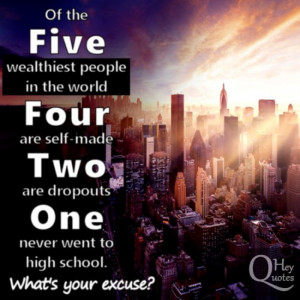 Inspirational quote wealthiest richest people in the world success