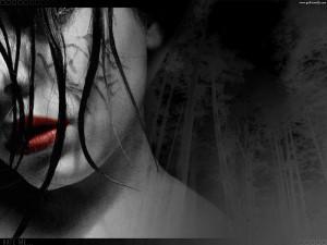 Gothic Vampire Bloody Girl