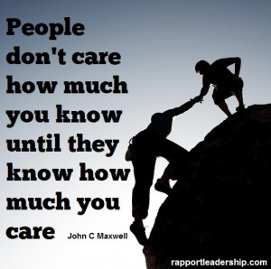 Quote from Rapport Leadership's Facebook page by John C Maxwell