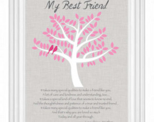 best friend gift personalized gif t for a special friend bff birthday ...