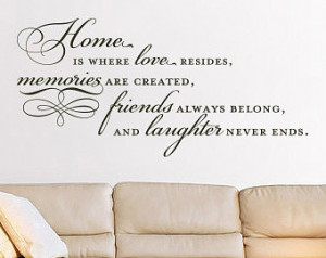 Quotes About Family And Friends And Memories Quote - family wall decal