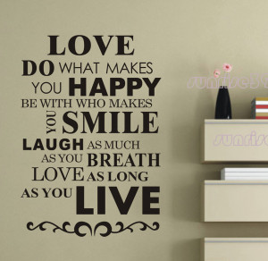 054A-samll-black-love-as-long-as-you-live-Quote-Wall-Stickers-Decal ...