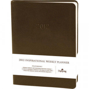... and Agenda books 2015 >> Black Leather Inspirational Quotes Planner