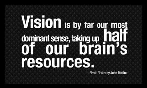 Dominant Woman Quotes Brain rules quotes - vision is