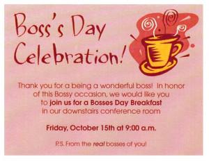 Boss's Day Celebration