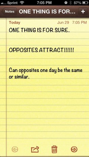 Opposites attract!!!!