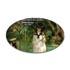 Berthe Morisot Art Quote Oval Sticker for