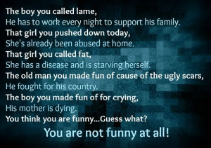 Stop bullying and judging others!