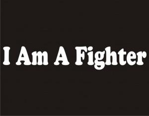 preshrunk cotton t shirt i am a fighter t shirt