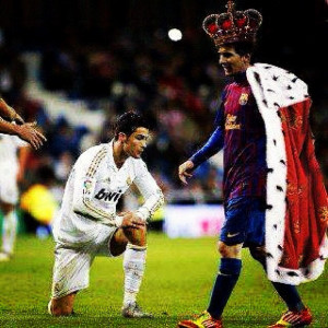 it should be fuck cr cr7 gay messi is the best