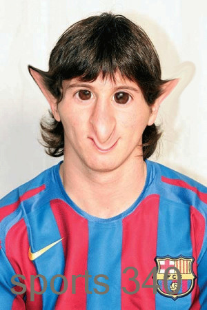 Funny messi pic, funny messi image, fun with messi, messi fun picture