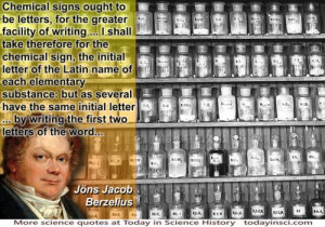 Jöns Jacob Berzelius quote Jons Berzelius quote on chemical symbols ...