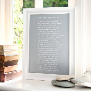 Home Personalised Poems Bespoke Framed My Dad Poem Print